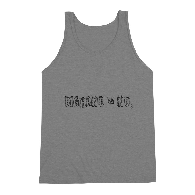 Text  Logo Men's Triblend Tank by BIGHAND-NO's Artist Shop