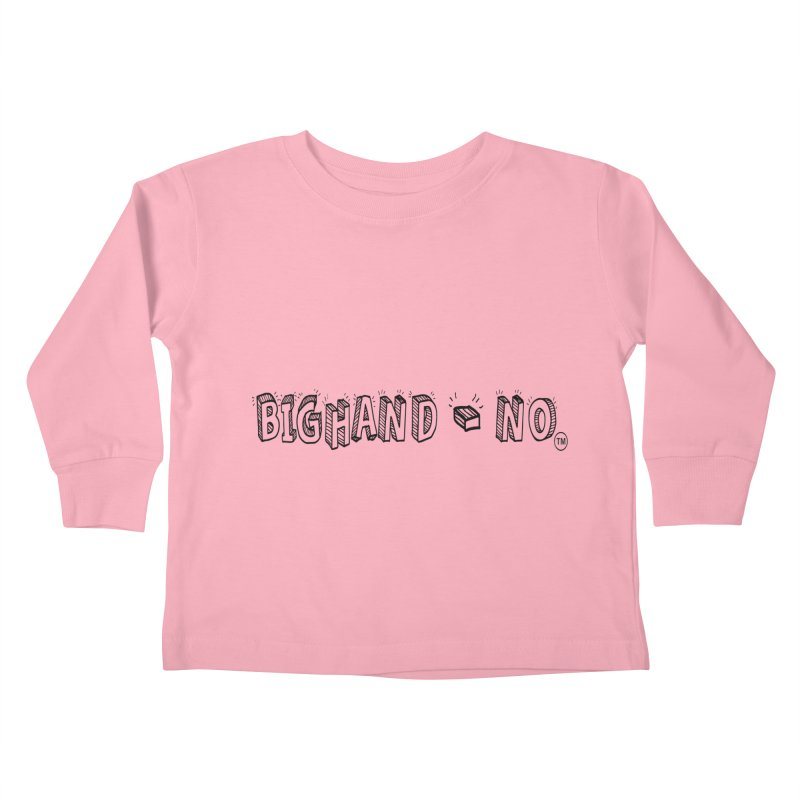Text  Logo Kids Toddler Longsleeve T-Shirt by BIGHAND-NO's Artist Shop