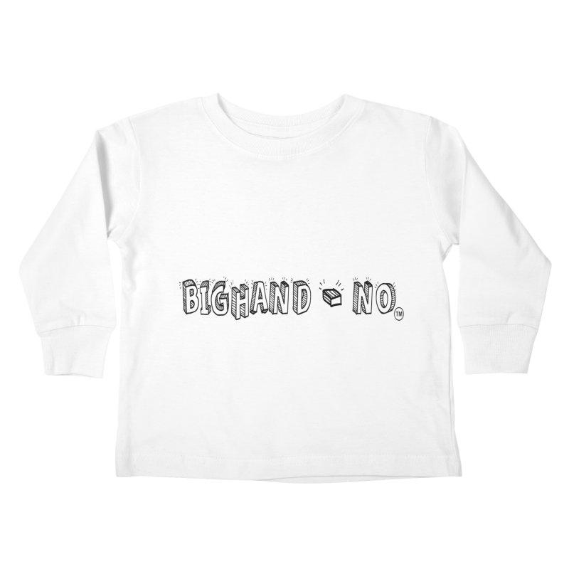 Text  Logo Kids Toddler Longsleeve T-Shirt by BIGHAND-NO's Artist Shop