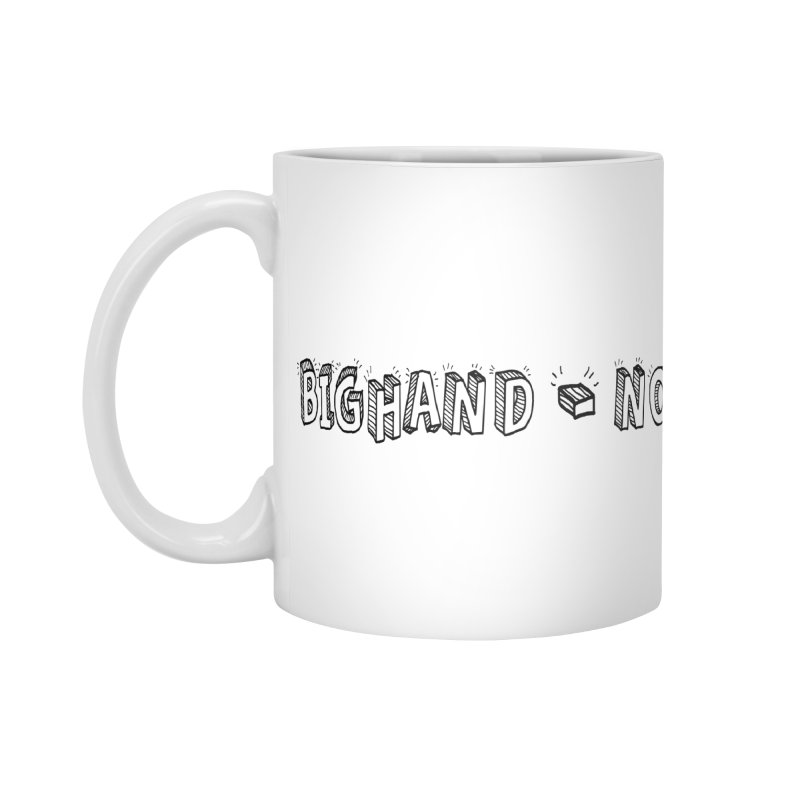 Text  Logo Accessories Standard Mug by BIGHAND-NO's Artist Shop
