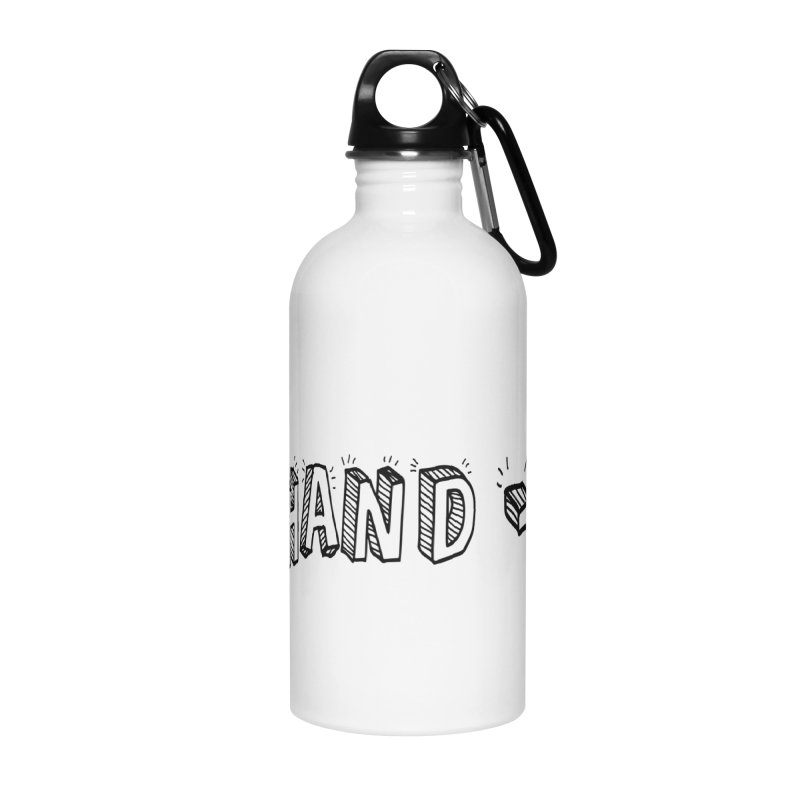 Text  Logo Accessories Water Bottle by BIGHAND-NO's Artist Shop