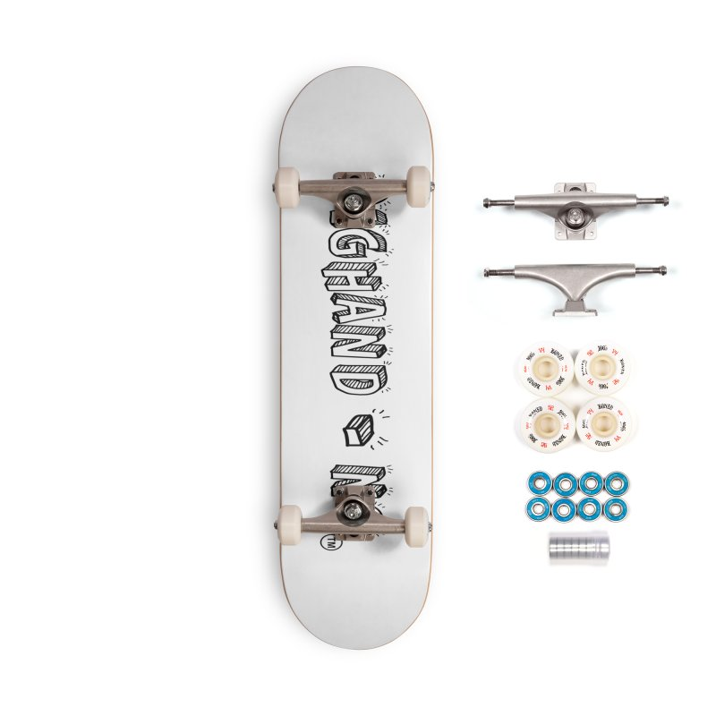 Text  Logo Accessories Complete - Premium Skateboard by BIGHAND-NO's Artist Shop