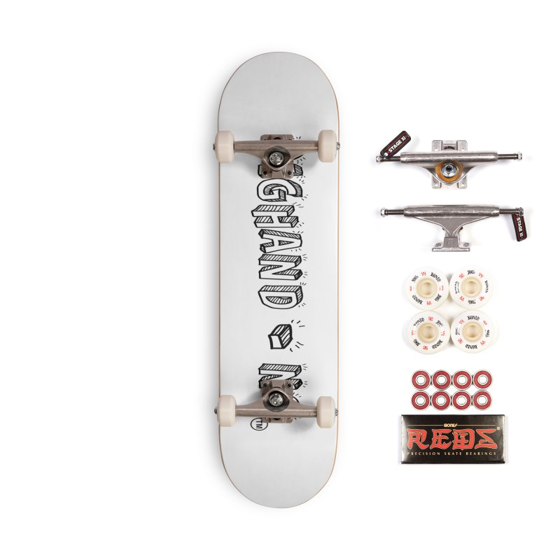 Text  Logo Accessories Complete - Pro Skateboard by BIGHAND-NO's Artist Shop