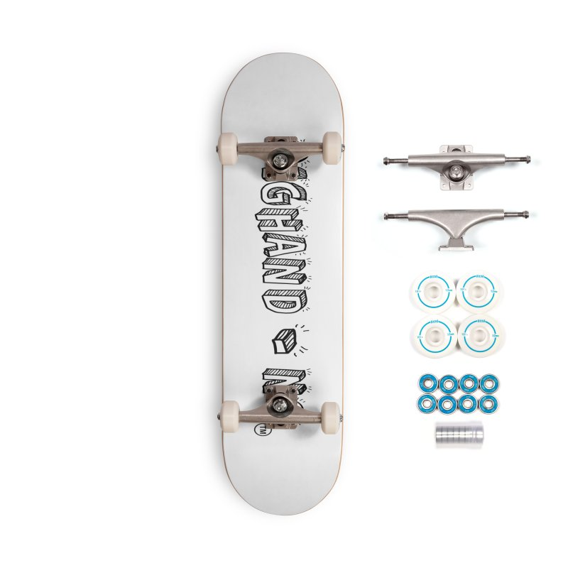 Text  Logo Accessories Skateboard by BIGHAND-NO's Artist Shop