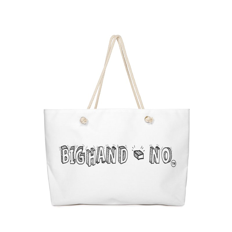 Text  Logo Accessories Bag by BIGHAND-NO's Artist Shop