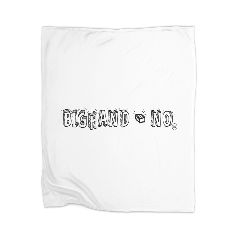 Text  Logo Home Blanket by BIGHAND-NO's Artist Shop