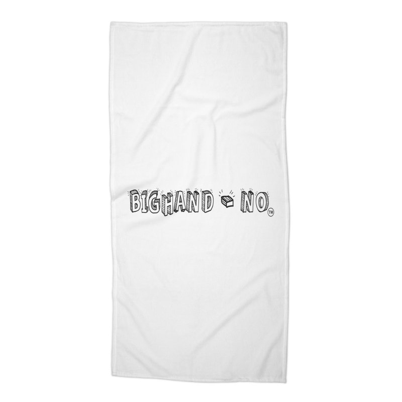 Text  Logo Accessories Beach Towel by BIGHAND-NO's Artist Shop