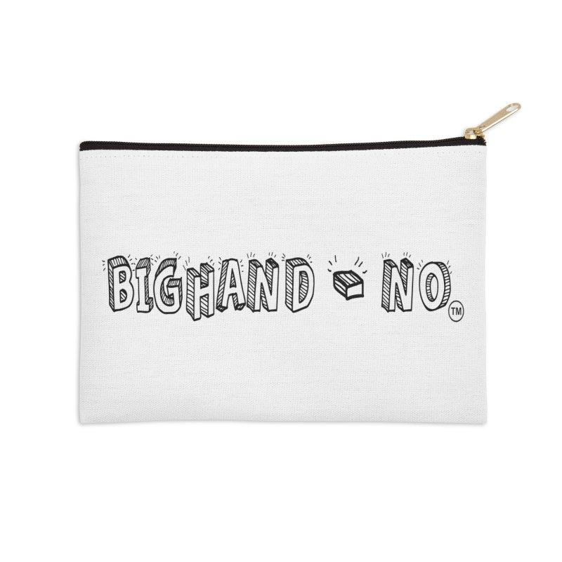 Text  Logo Accessories Zip Pouch by BIGHAND-NO's Artist Shop