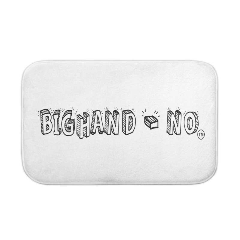 Text  Logo Home Bath Mat by BIGHAND-NO's Artist Shop