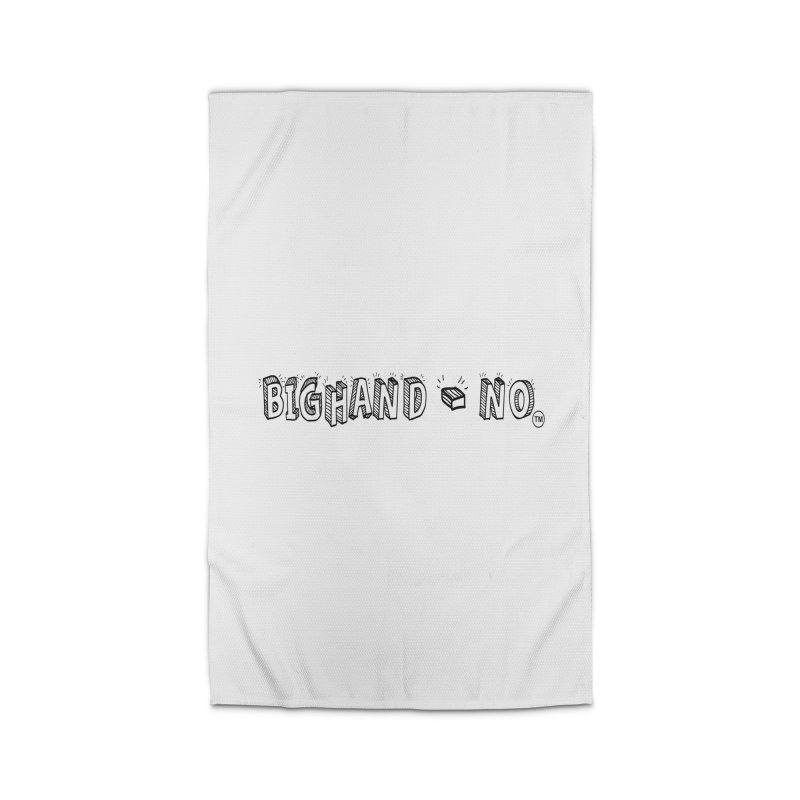 Text  Logo Home Rug by BIGHAND-NO's Artist Shop