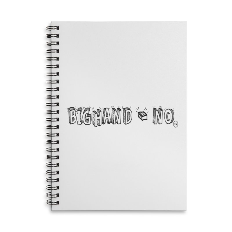 Text  Logo Accessories Lined Spiral Notebook by BIGHAND-NO's Artist Shop