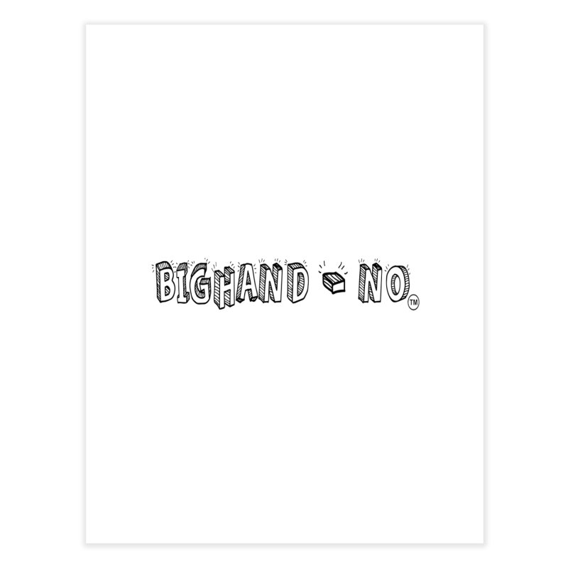 Text  Logo Home Fine Art Print by BIGHAND-NO's Artist Shop