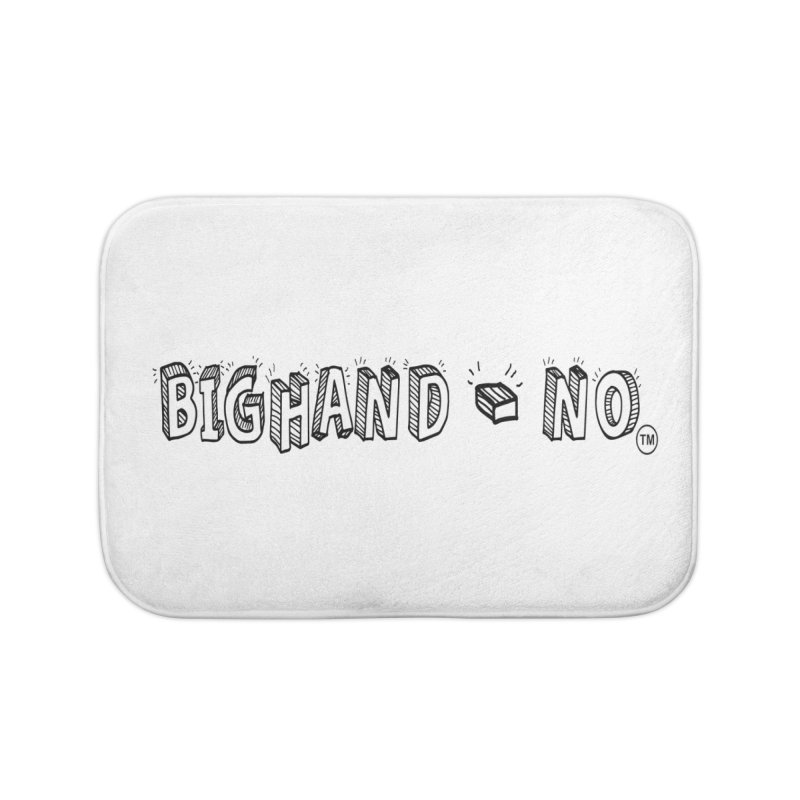 Text  Logo Home Bath Mat by BIGHAND-NO's Artist Shop