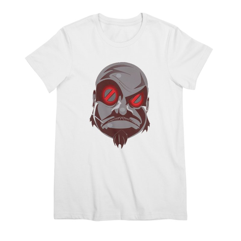 BIGFACE Women's Premium T-Shirt by BIGHAND-NO's Artist Shop