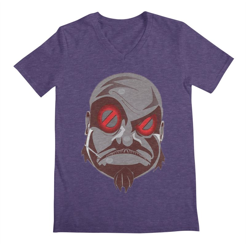 BIGFACE Men's Regular V-Neck by BIGHAND-NO's Artist Shop