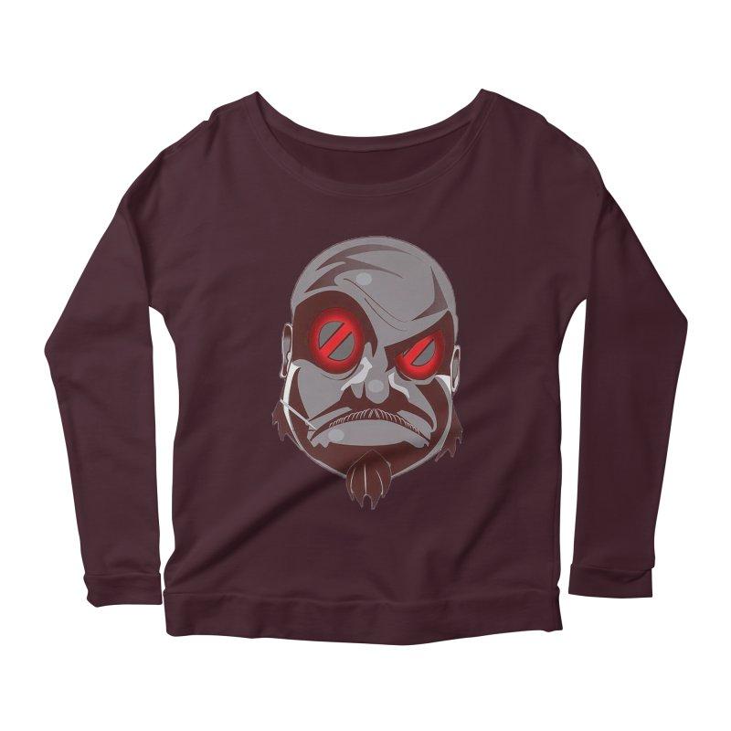 BIGFACE Women's Scoop Neck Longsleeve T-Shirt by BIGHAND-NO's Artist Shop