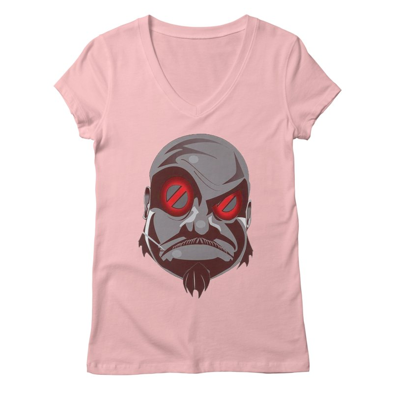BIGFACE Women's V-Neck by BIGHAND-NO's Artist Shop