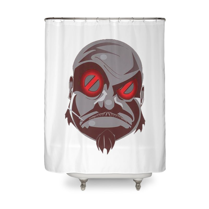 BIGFACE Home Shower Curtain by BIGHAND-NO's Artist Shop