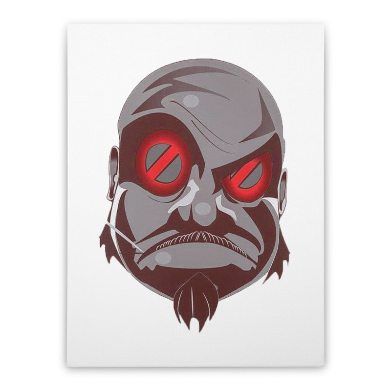 BIGFACE Home Stretched Canvas by BIGHAND-NO's Artist Shop