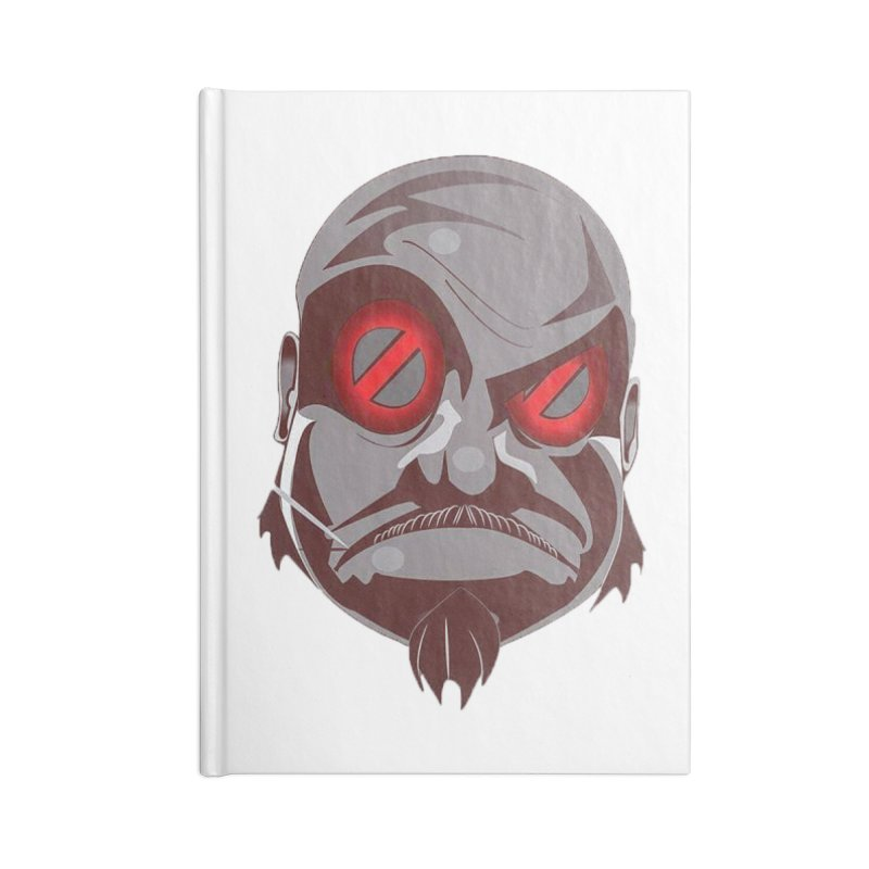 BIGFACE Accessories Lined Journal Notebook by BIGHAND-NO's Artist Shop