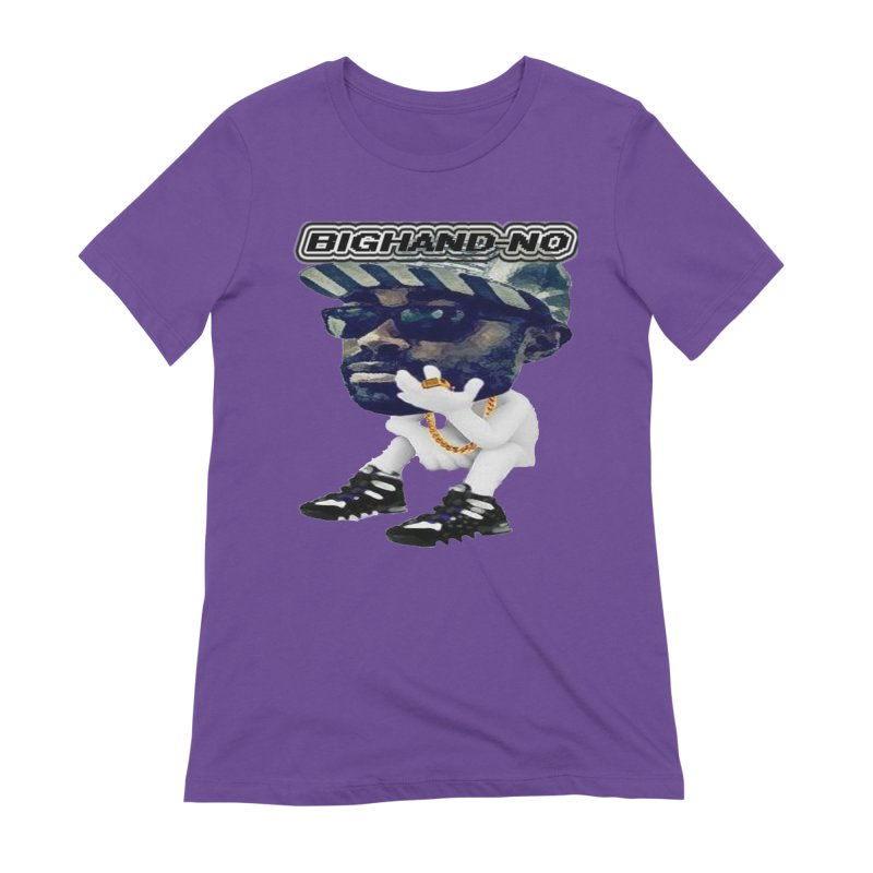 BIGHAND CHARACTER Women's Extra Soft T-Shirt by BIGHAND-NO's Artist Shop