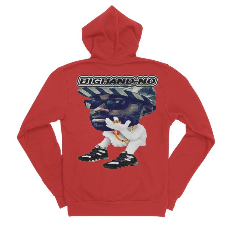 BIGHAND CHARACTER Men's Zip-Up Hoody by BIGHAND-NO's Artist Shop