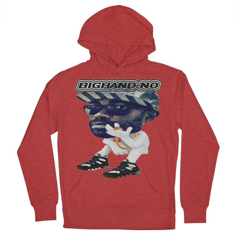 BIGHAND CHARACTER Men's French Terry Pullover Hoody by BIGHAND-NO's Artist Shop