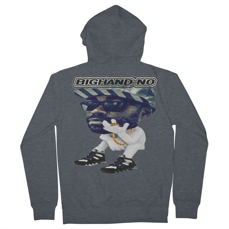 BIGHAND CHARACTER Men's French Terry Zip-Up Hoody by BIGHAND-NO's Artist Shop