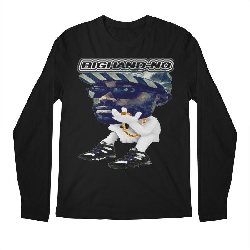 BIGHAND CHARACTER Men's Regular Longsleeve T-Shirt by BIGHAND-NO's Artist Shop