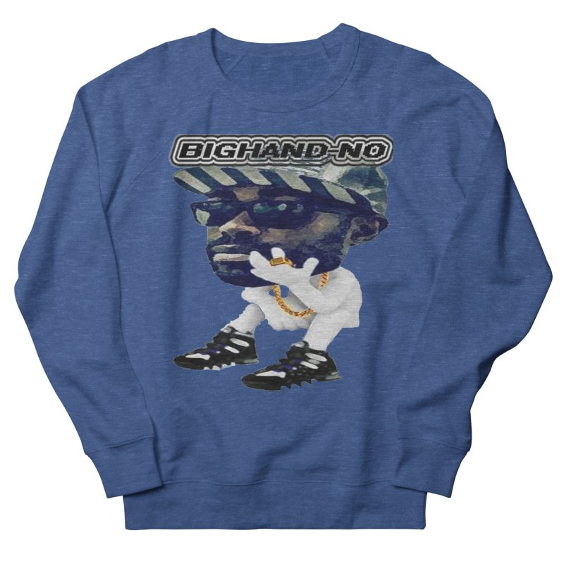 BIGHAND CHARACTER Women's French Terry Sweatshirt by BIGHAND-NO's Artist Shop