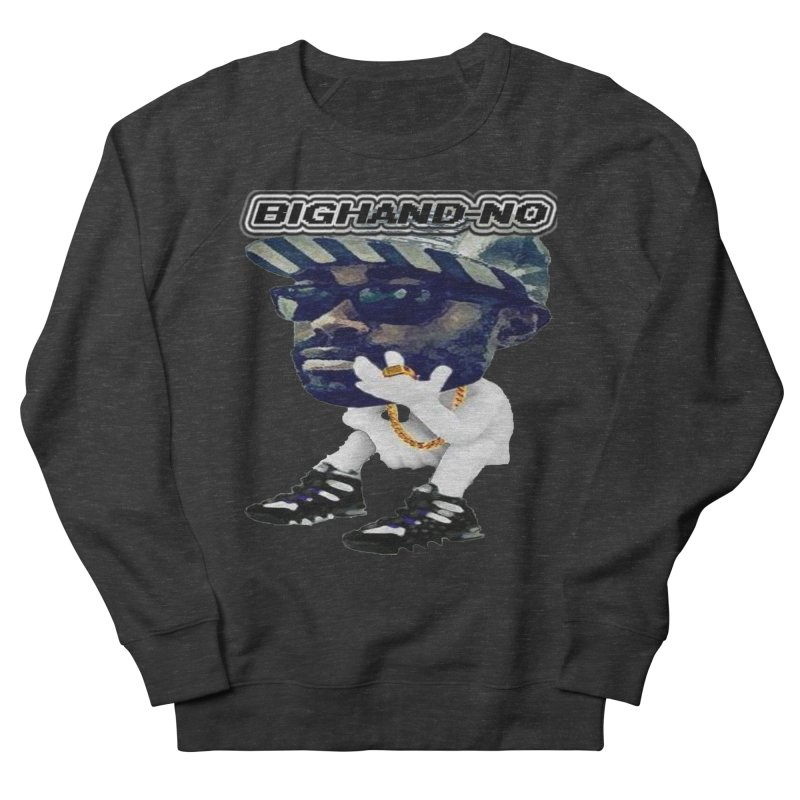 BIGHAND CHARACTER Men's French Terry Sweatshirt by BIGHAND-NO's Artist Shop
