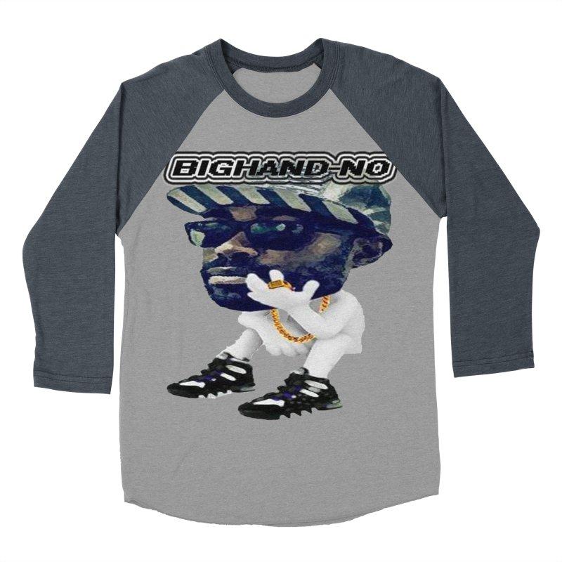 BIGHAND CHARACTER Women's Baseball Triblend Longsleeve T-Shirt by BIGHAND-NO's Artist Shop