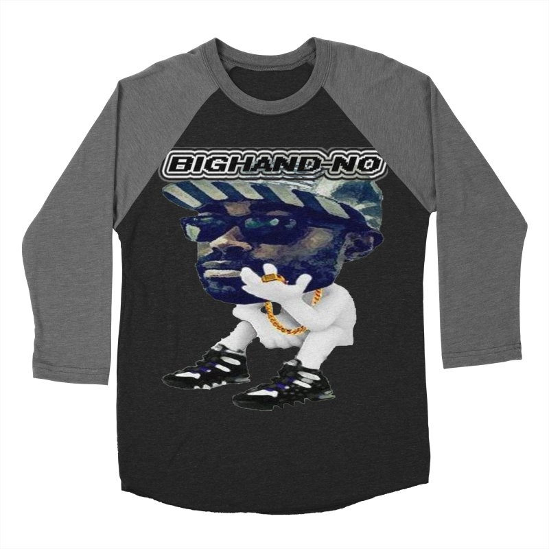 BIGHAND CHARACTER Men's Baseball Triblend Longsleeve T-Shirt by BIGHAND-NO's Artist Shop
