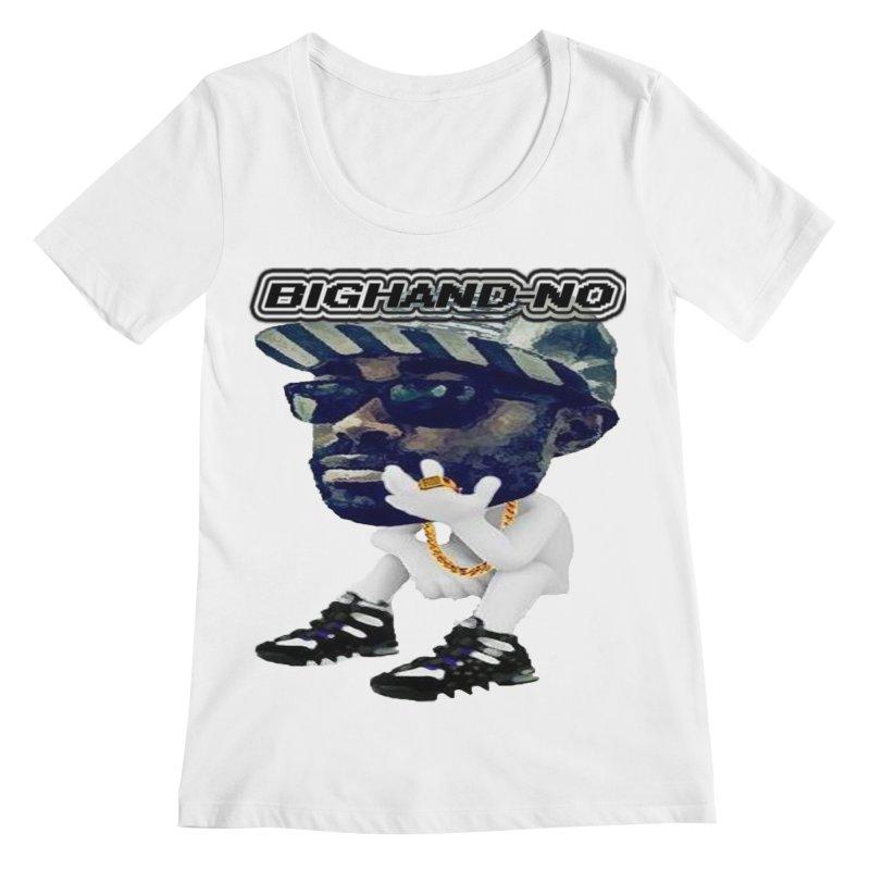 BIGHAND CHARACTER Women's Regular Scoop Neck by BIGHAND-NO's Artist Shop