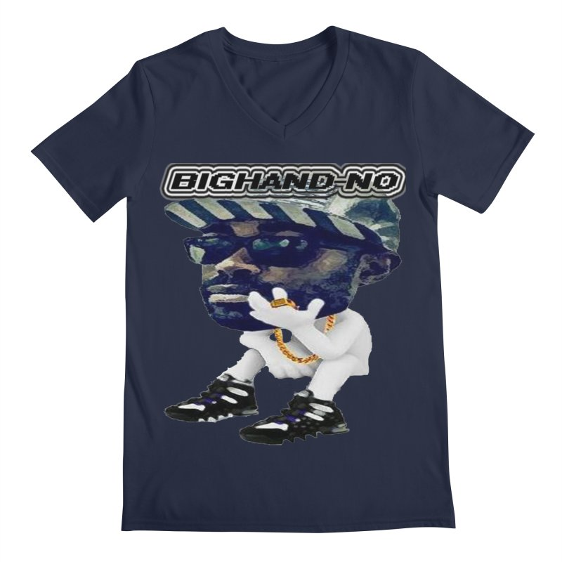 BIGHAND CHARACTER Men's V-Neck by BIGHAND-NO's Artist Shop
