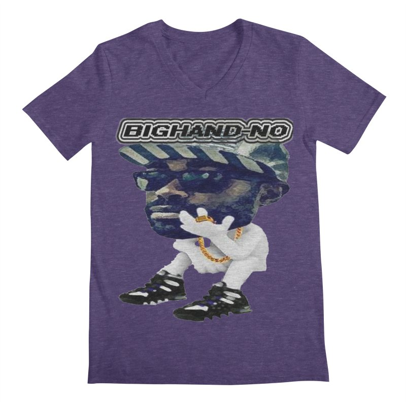BIGHAND CHARACTER Men's Regular V-Neck by BIGHAND-NO's Artist Shop