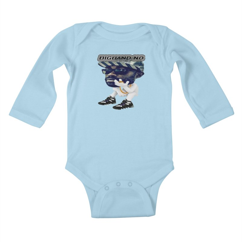 BIGHAND CHARACTER Kids Baby Longsleeve Bodysuit by BIGHAND-NO's Artist Shop