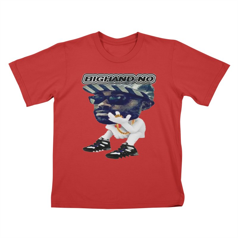 BIGHAND CHARACTER Kids T-Shirt by BIGHAND-NO's Artist Shop