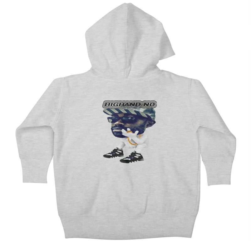 BIGHAND CHARACTER Kids Baby Zip-Up Hoody by BIGHAND-NO's Artist Shop