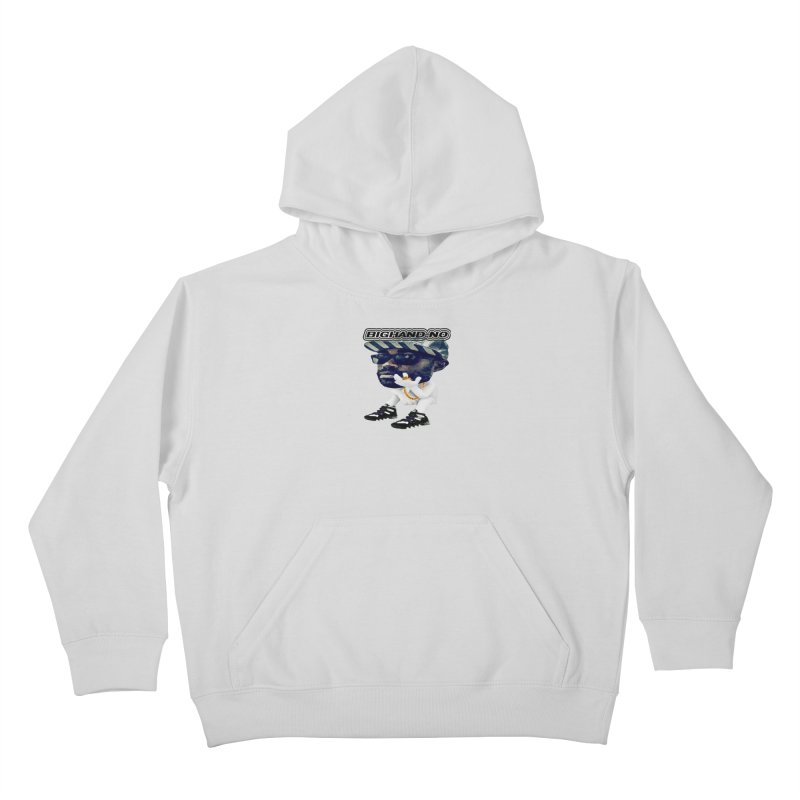 BIGHAND CHARACTER Kids Pullover Hoody by BIGHAND-NO's Artist Shop