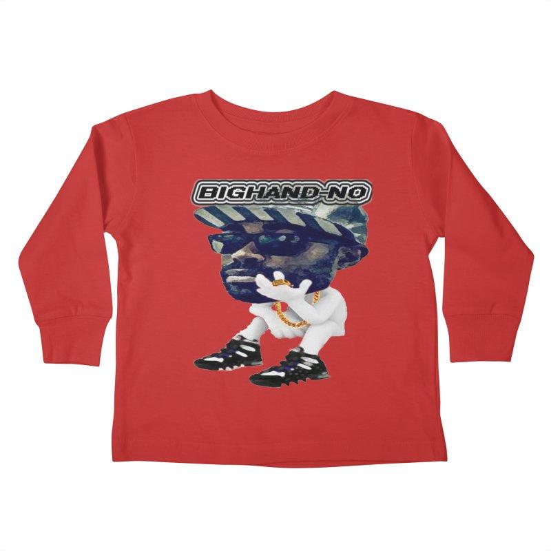 BIGHAND CHARACTER Kids Toddler Longsleeve T-Shirt by BIGHAND-NO's Artist Shop