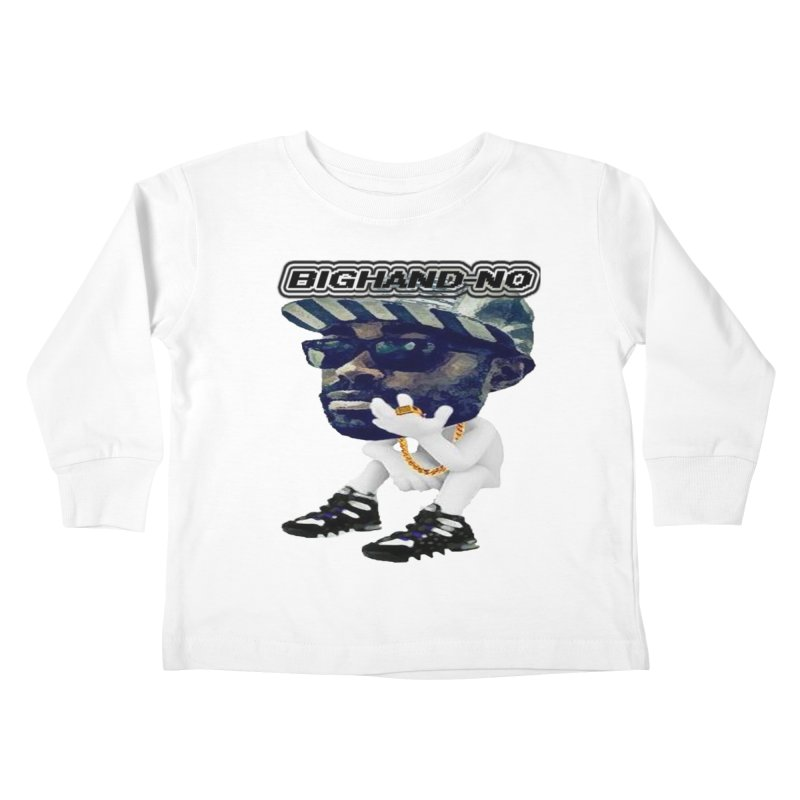 BIGHAND CHARACTER Kids Toddler Longsleeve T-Shirt by BIGHAND-NO's Artist Shop