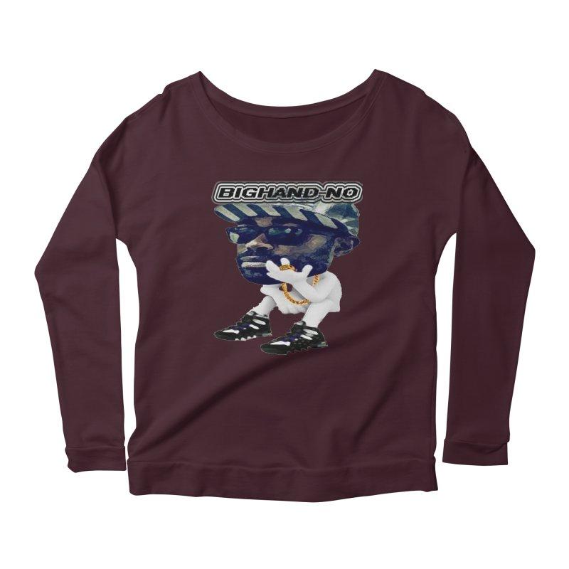 BIGHAND CHARACTER Women's Scoop Neck Longsleeve T-Shirt by BIGHAND-NO's Artist Shop