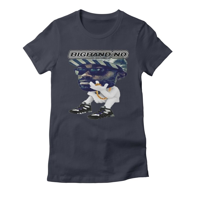 BIGHAND CHARACTER Women's Fitted T-Shirt by BIGHAND-NO's Artist Shop