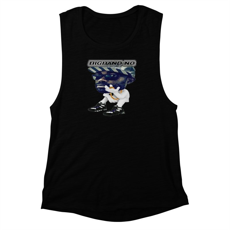 BIGHAND CHARACTER Women's Muscle Tank by BIGHAND-NO's Artist Shop