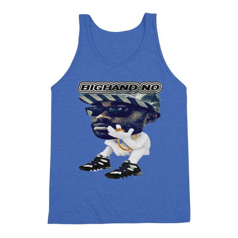 BIGHAND CHARACTER Men's Triblend Tank by BIGHAND-NO's Artist Shop