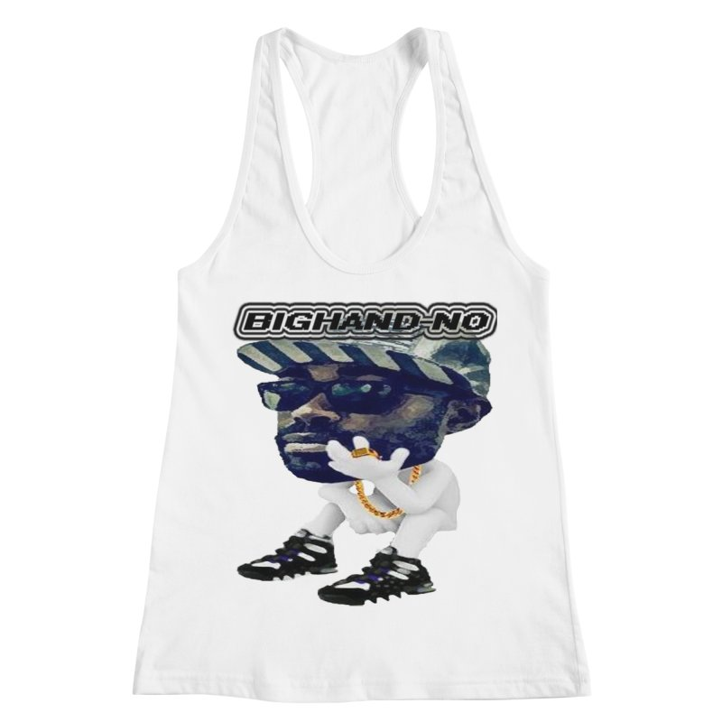 BIGHAND CHARACTER Women's Racerback Tank by BIGHAND-NO's Artist Shop