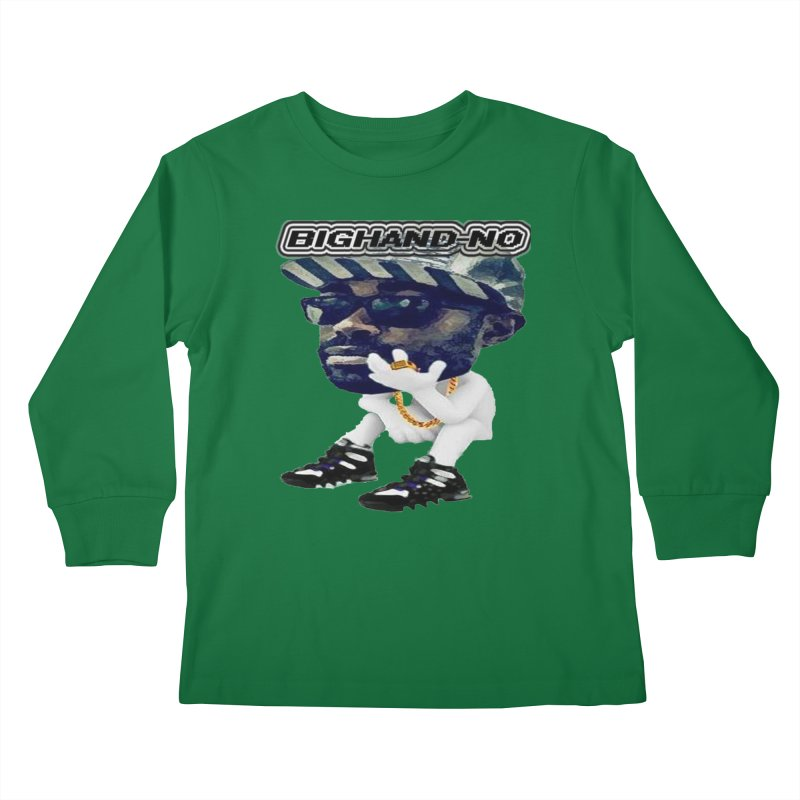BIGHAND CHARACTER Kids Longsleeve T-Shirt by BIGHAND-NO's Artist Shop