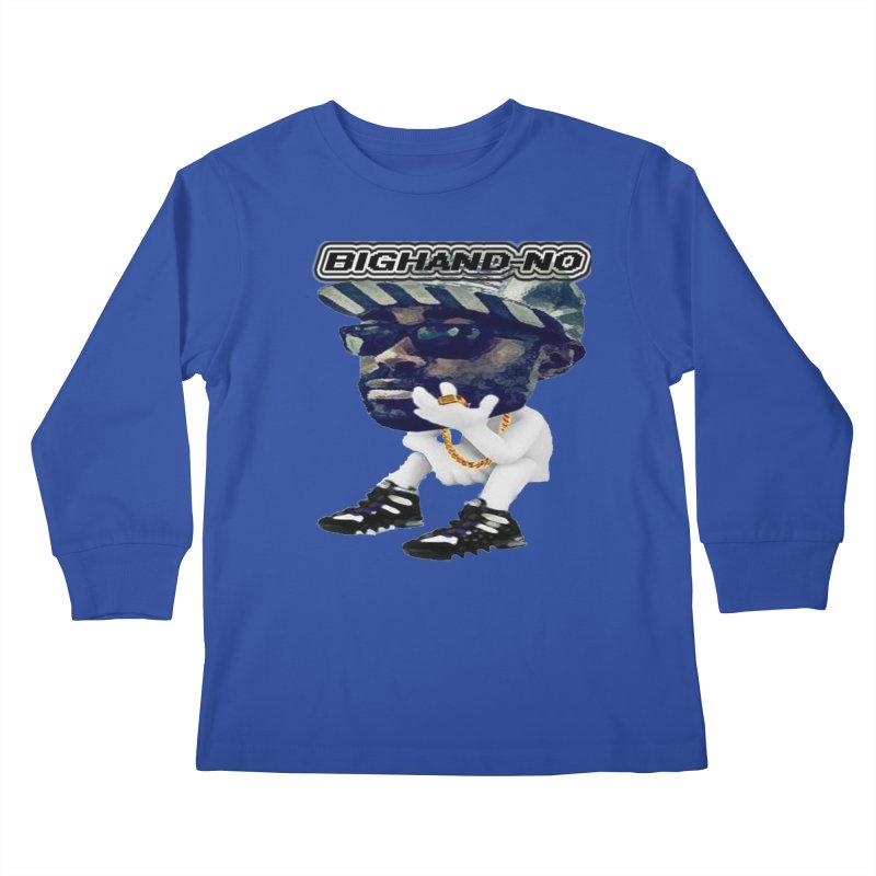 BIGHAND CHARACTER Kids Longsleeve T-Shirt by BIGHAND-NO's Artist Shop