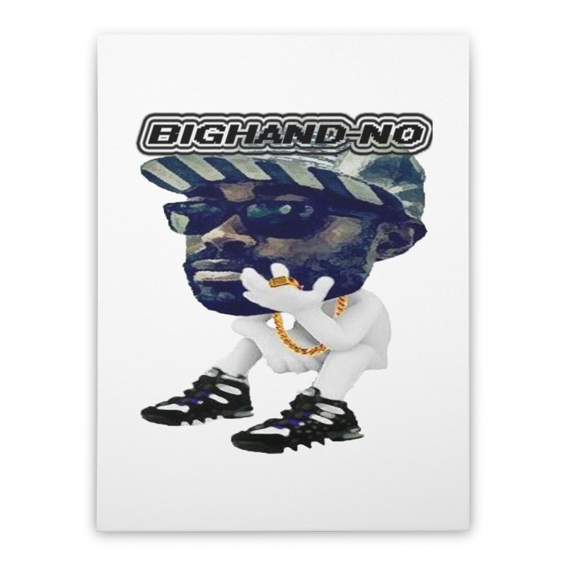 BIGHAND CHARACTER Home Stretched Canvas by BIGHAND-NO's Artist Shop